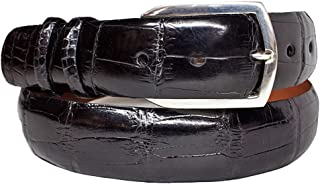 product image for Black Alligator Belt Strap includes Sterling Silver Belt Buckle