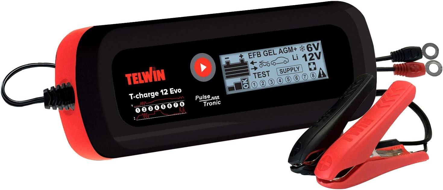 Cargador de bater/ía para coche o barco TELWIN T-CHARGE 12 EVO 6//12 V