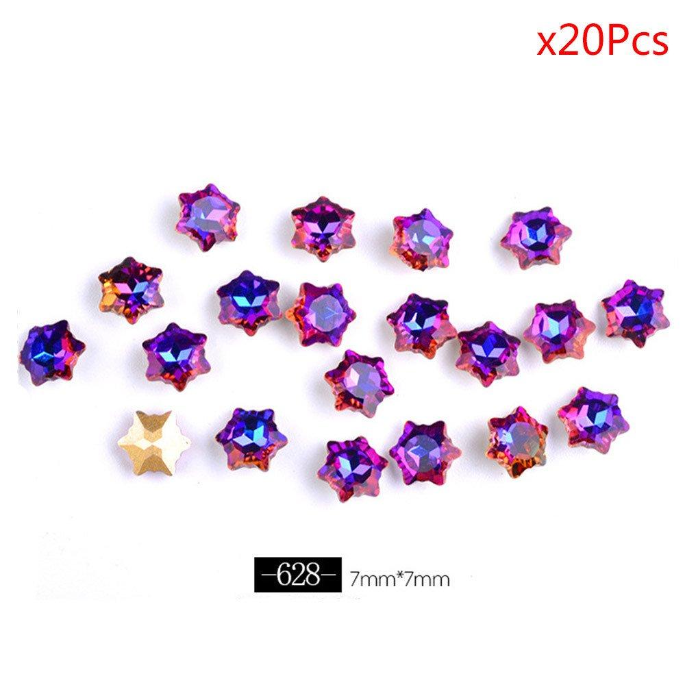 Kashyk - 20 piezas de diamantes de imitación para decoración de ...