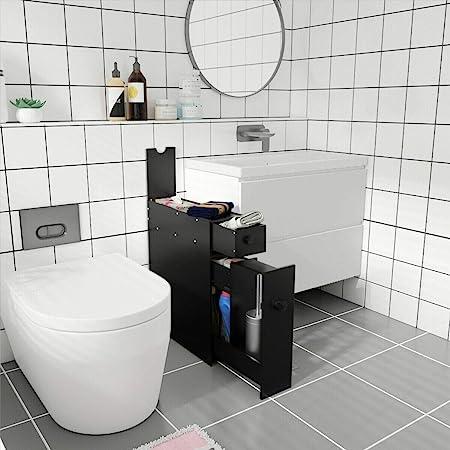 Bathroom Space Saver Over the Toilet 3 Shelves Tissue Box Wooden Cream Storage