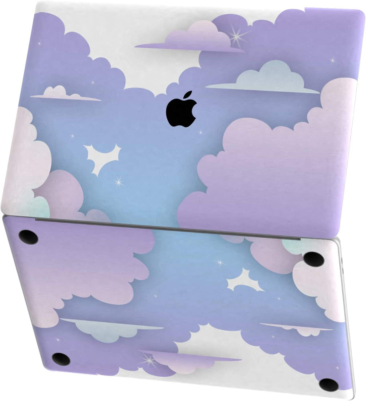Wireless, Rechargable Blue Watercolor Ombre Stripes Design Skinz Premium Vinyl Decal for The Apple Magic Mouse 2 with Multi-Touch Surface