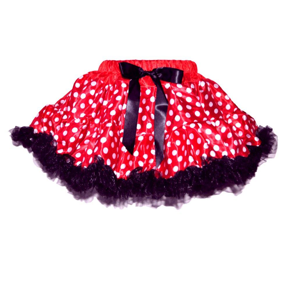 Barato Las niñas de 2 capas tutú baile falda (rojo/blanco)