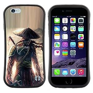 "Hypernova Slim Fit Dual Barniz Protector Caso Case Funda Para Apple (4.7 inches!!!) iPhone 6 / 6S (4.7 INCH) [Guerrero samurai japonés Eclipse""]"