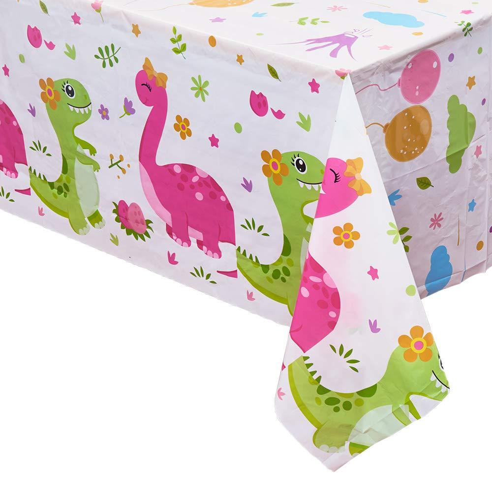WERNNSAI Mantel del Dinosaurio - Suministros para la Fiesta de Dinosaurio para Niños Muchachos Cumpleaños Boda Baby Shower Decoración, 4 Piezas 180 ...