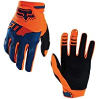 Full-Finger Racing Motorcycle Gloves MTB Bike Mittens Off-Road Riding Gloves Outdoor Sports Gloves (M, Orange)