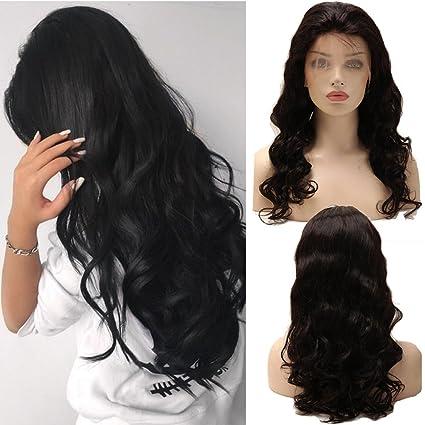 Remy Peluca de cabello humano con malla para mujer, 100 % cabello natural brasileño,