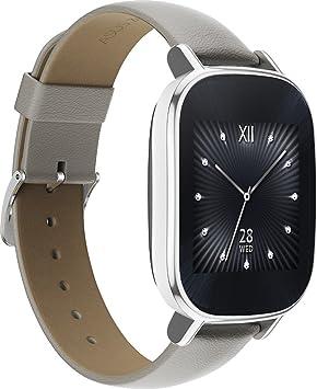 Asus ZenWatch 2 WI502Q - Reloj Inteligente, Color Plateado: Amazon ...