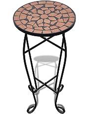vidaXL Garden Side Table Plant Table Stand Balcony Mosaic Table Decor 4 Colours