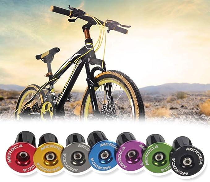 Handle Bar Plug CHXIHome 1Pair Aluminum Alloy Road MTB Handlebar Caps Durable Road MTB Aluminum Alloy Bike Parts Bar End Cap Bicycle Grips Plugs
