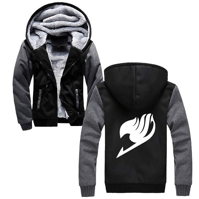 Fairy Tail Chaquetas con Capucha Cálido Hombres Sudaderas de Béisbol Casuales Abrigo Deportivo Hipster Jacket Coat