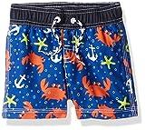 Gymboree Baby Toddler Boys' His Swim Trunks, Crab/Blue, 3T