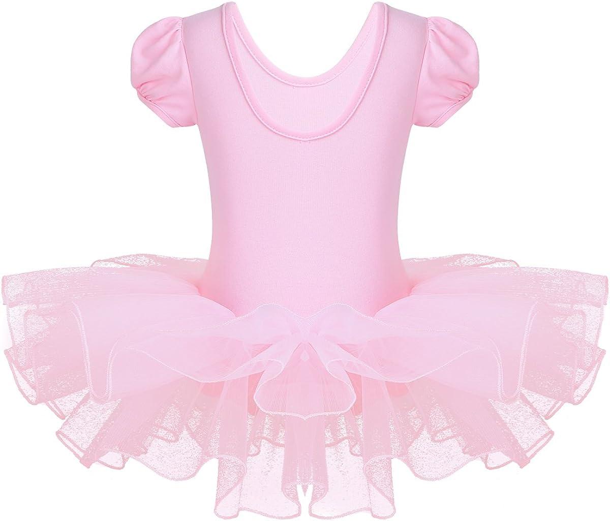Aislor Kids Toddlers Girls Sparkly Rhinestones Gymnastics Leotard Tutu Dress Ballerina Ballet Dance Costumes