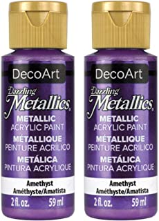 product image for 2-Pack - DecoArt Dazzling Metallics Acrylic Colors - Festive Green, 2-Ounces Each