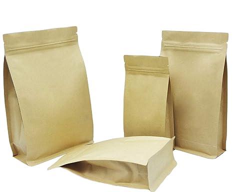 50 bolsas de papel kraft universales, con cierre de ...