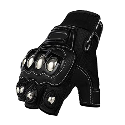 Steel Outdoor Reinforced Brass Knuckle Motorcycle Motorbike Powersports Racing Textile Safety Gloves … (Medium, Touch Screen): Automotive