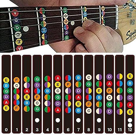 Etiquetas Notas Engomada de Guitarra Fretboard para el ...