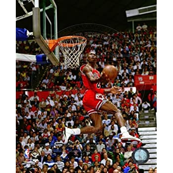 Michael Jordan 1987 Slam Dunk Contest Action Glossy Photograph Photo Print 0237b10cda