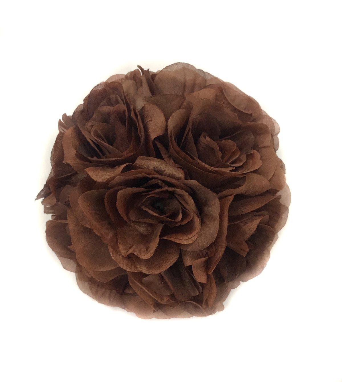 (25cm, Ivory) - Ben Collection Fabric Artificial Flowers Silk Rose Pomander Wedding Party Home Decoration Kissing Ball Trendy Colour Simulation Flower (Ivory, 25cm) B076XW7N4M 25cm|アイボリー アイボリー 25cm