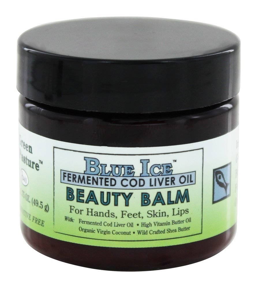 Blue Ice Fermented Cod Liver Oil Beauty Balm, 1.75 oz Jar