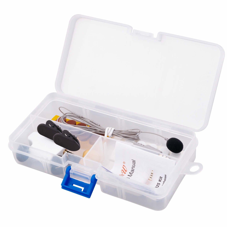 MicW i855 Niere Mini-Lavalier-Mikrofon Kit für mobile Geräte und umfangreichem Zubehör I855-KIT