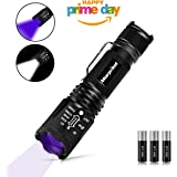 Morpilot Handheld Flashlight, 2 in 1 UV Tactical Flashlight Urine Detector 500LM Bright 4 Modes with 395NM Ultraviolet Black Light for Spot Carpet Pet Urine Stain Catch Scorpions