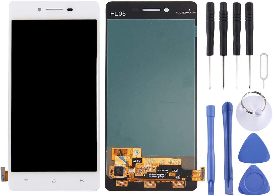 Smartillumi for LCD Screen for Oppo R7 LCD Screen and Digitizer Full Assembly White Color : White