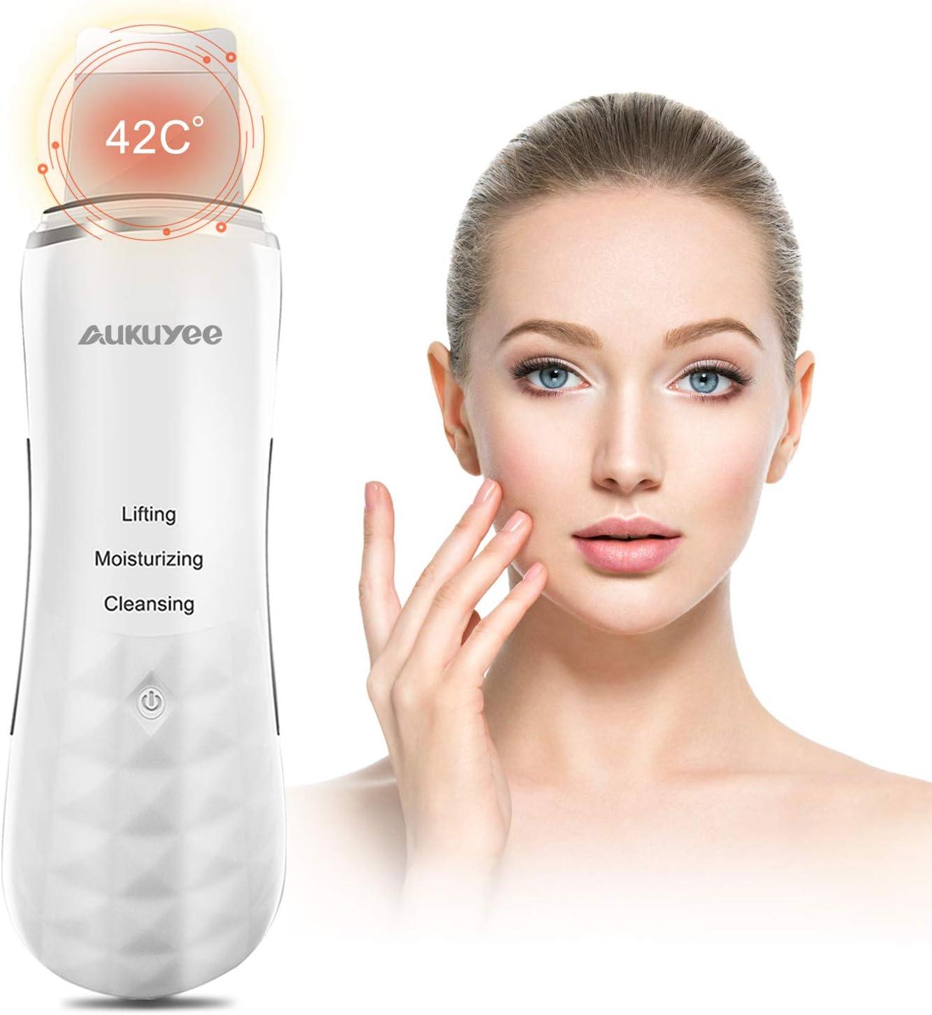 Espatula Ultrasonic Dispositivo, AUKUYEE Ultrasónico de Limpieza de la piel
