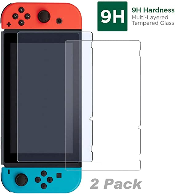 iMW Glass Protector Pack for Nintendo Switch - Pack of 2