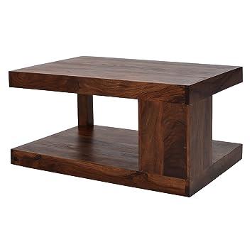 Couchtisch Massiv-Holz Sheesham 90 x 60 cm Wohnzimmer-Tisch Braun ...