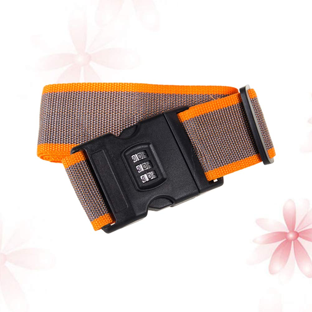 Vosarea Luggage Straps Adjustable Safety Travel Bag Accessories with Combination Lock