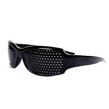 aea64c6776 Gearmax Pinhole Glasses Pinhole Goggles Grid Glasses Improving Eyesight  Relieving Fatigue (Black)  Amazon.co.uk  Sports   Outdoors