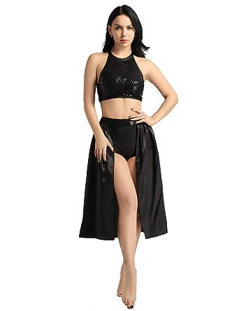 MSemis Vestido de Danza Ballet Lentejuelas Traje Bailarina ...
