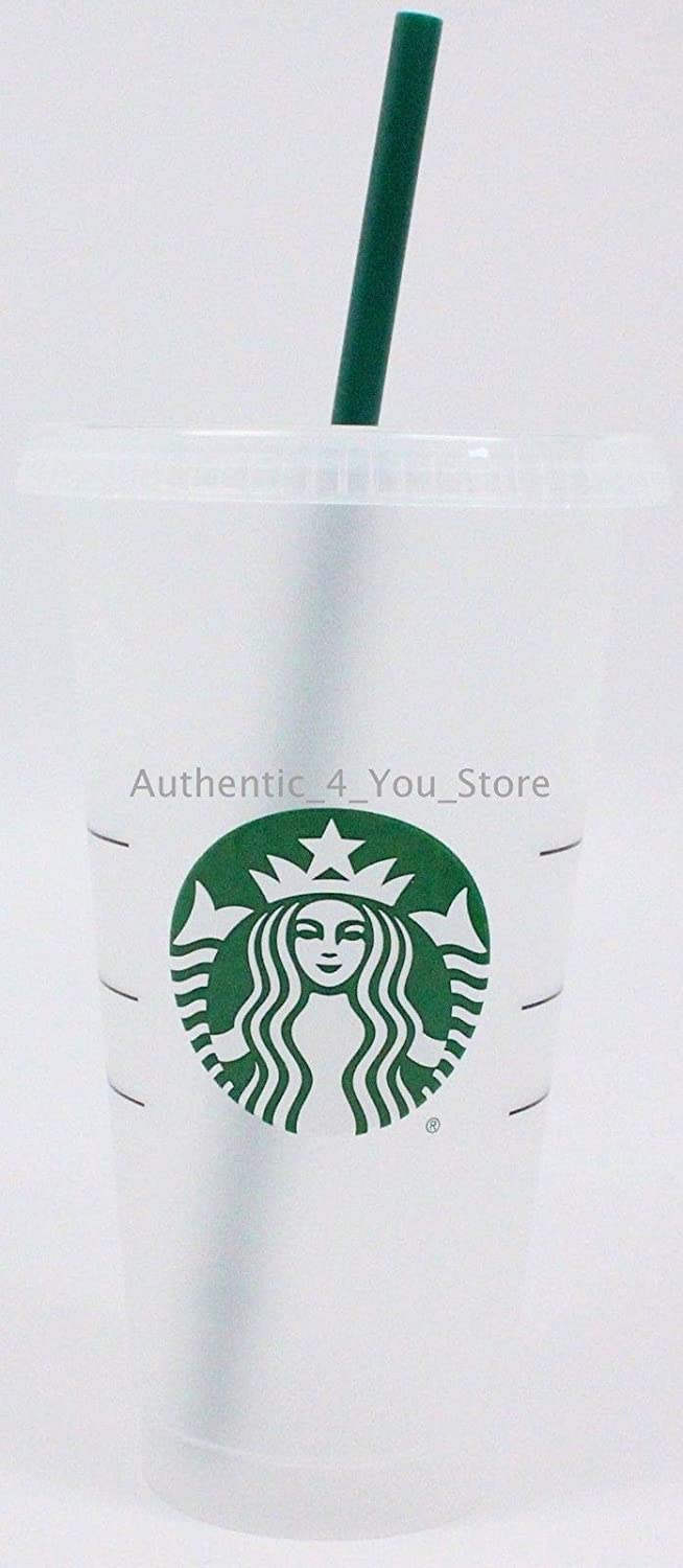 Starbucks Siren Logo Reusable Plastic Cold Cup, 24 fl oz