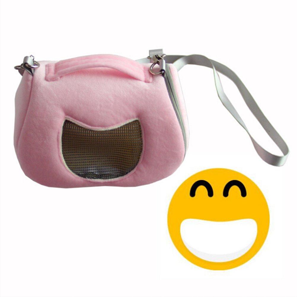 ueetek h/ámster Carrier bolso de peque/ño animal familier confortable para h/ámster senderismo en plein air de senderismo rosa