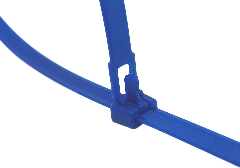 Serre c/âble en plastique noir qualit/é professionnelle de dimension 200X3,6mm,serrage /à la main.