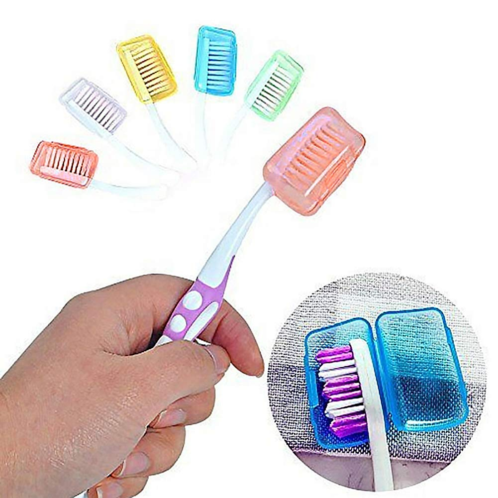 5PCS Silicone Toothbrush Head Cover Holder Travel Brush Cap Cover Case Protecter