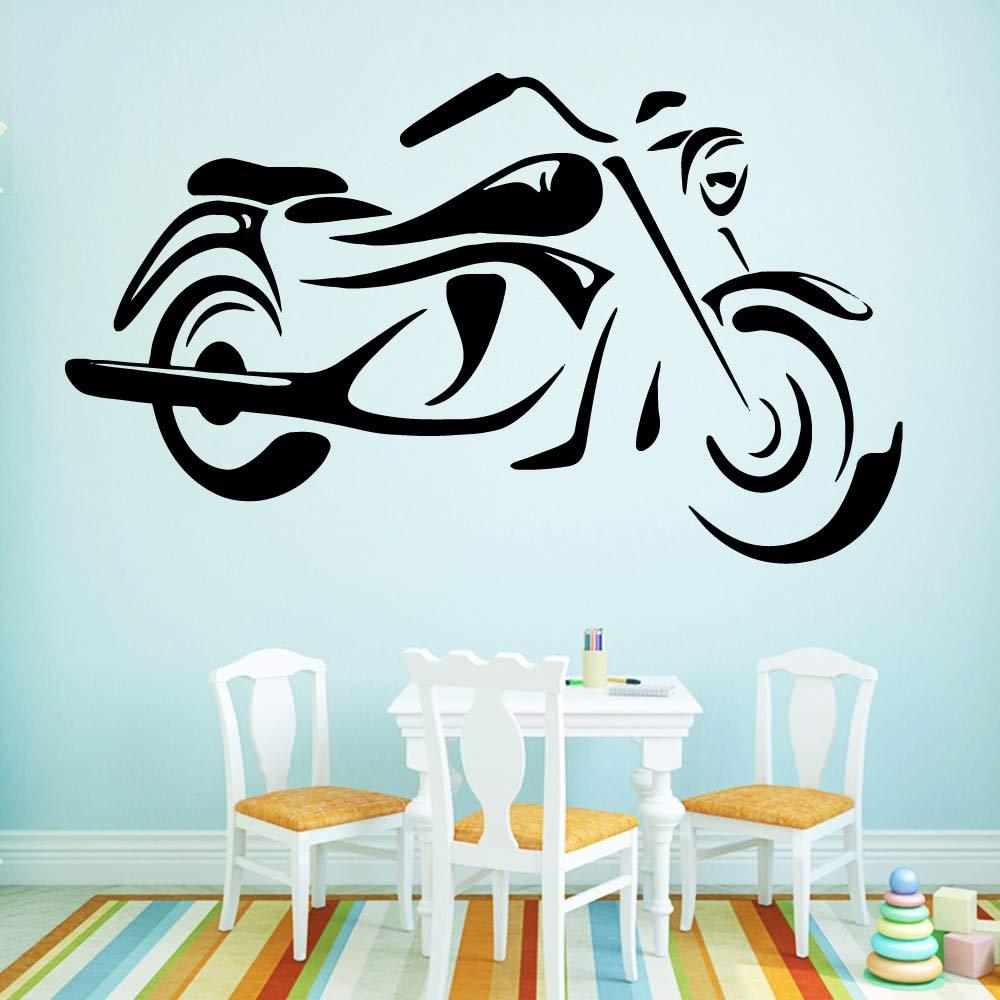 BailongXiao Estilo de Dibujos Animados Motocicleta extraíble Arte ...