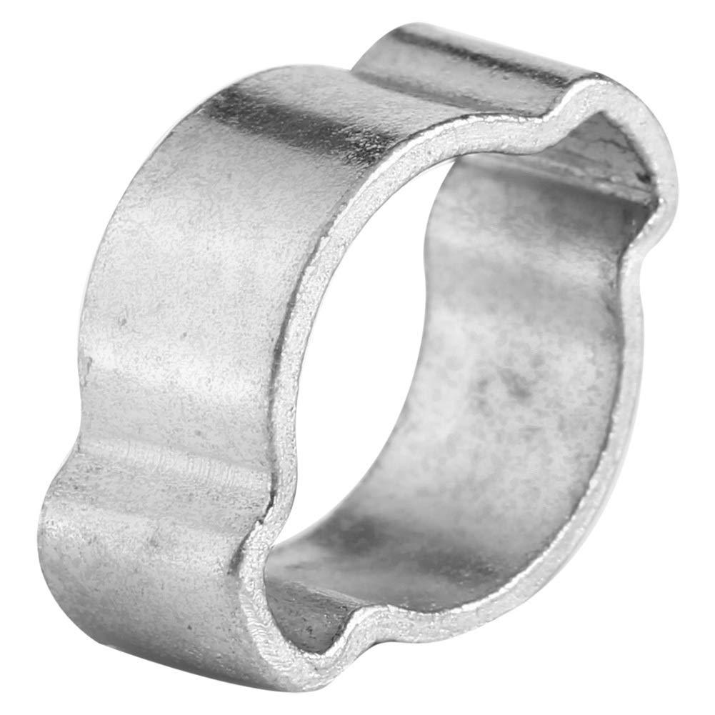 Abrazadera de manguera tama/ño : 11-13mm 10pcs abrazadera de manguera de dos orejas de acero inoxidable chapado en zinc 11-18 mm para tubo de gasolina Fule