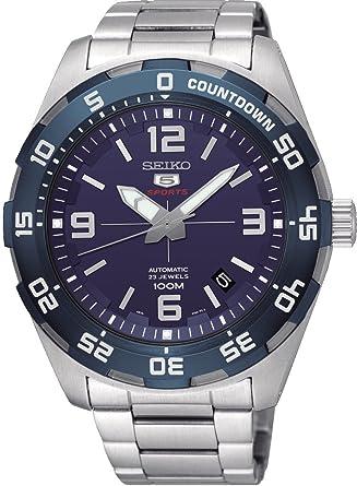 Seiko Reloj Analógico para Hombre de Automático con Correa en Acero Inoxidable SRPB85K1: Amazon.es: Relojes