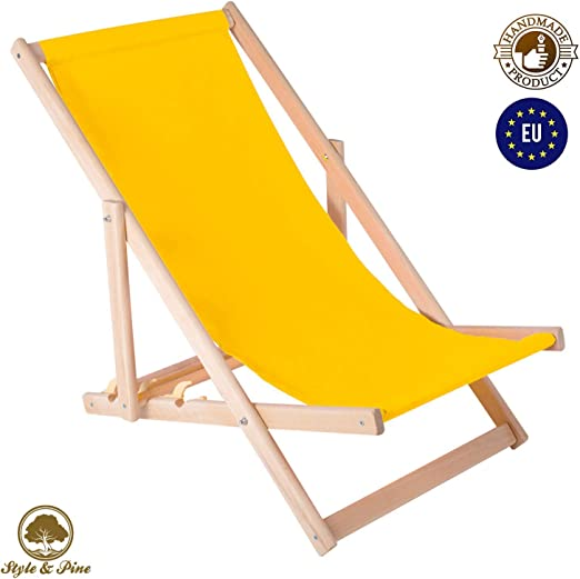 Amazinggirl Tumbona-s Jardin Exterior - sillas de Playa Plegables tumbonas de Madera amacas de Jardin Tumbona Silla Plegable: Amazon.es: Jardín