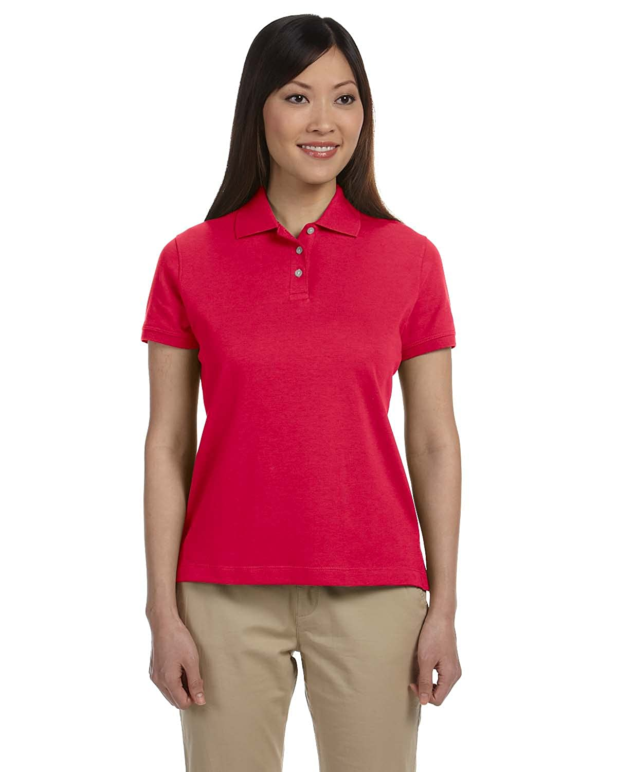 Devon & Jones D140SW - Ladies Solid Perfect Pima Interlock Polo M47933