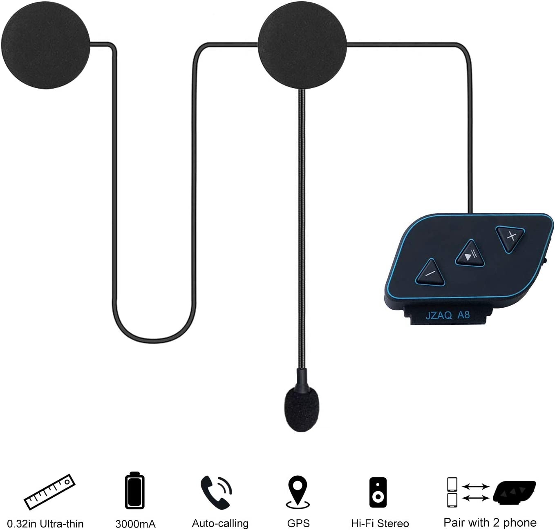 Rechargeable Wireless Motorcycle Helmet Headset Bluetooth 5 Headphone Handsfree