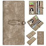 Women Wallet,Emoonland 2017 New Frosted Soft Leather Multi Card Organizer| Card Holder Wallet to Organize Your Cash,Credit Cards,Passport| Trendy Hand Clutch for Women (Beige)