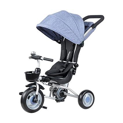 QXMEI Triciclo Infantil Bicicleta Plegable Cochecito De Bebé 1-3 Años Carriola Bebé Multifunción con