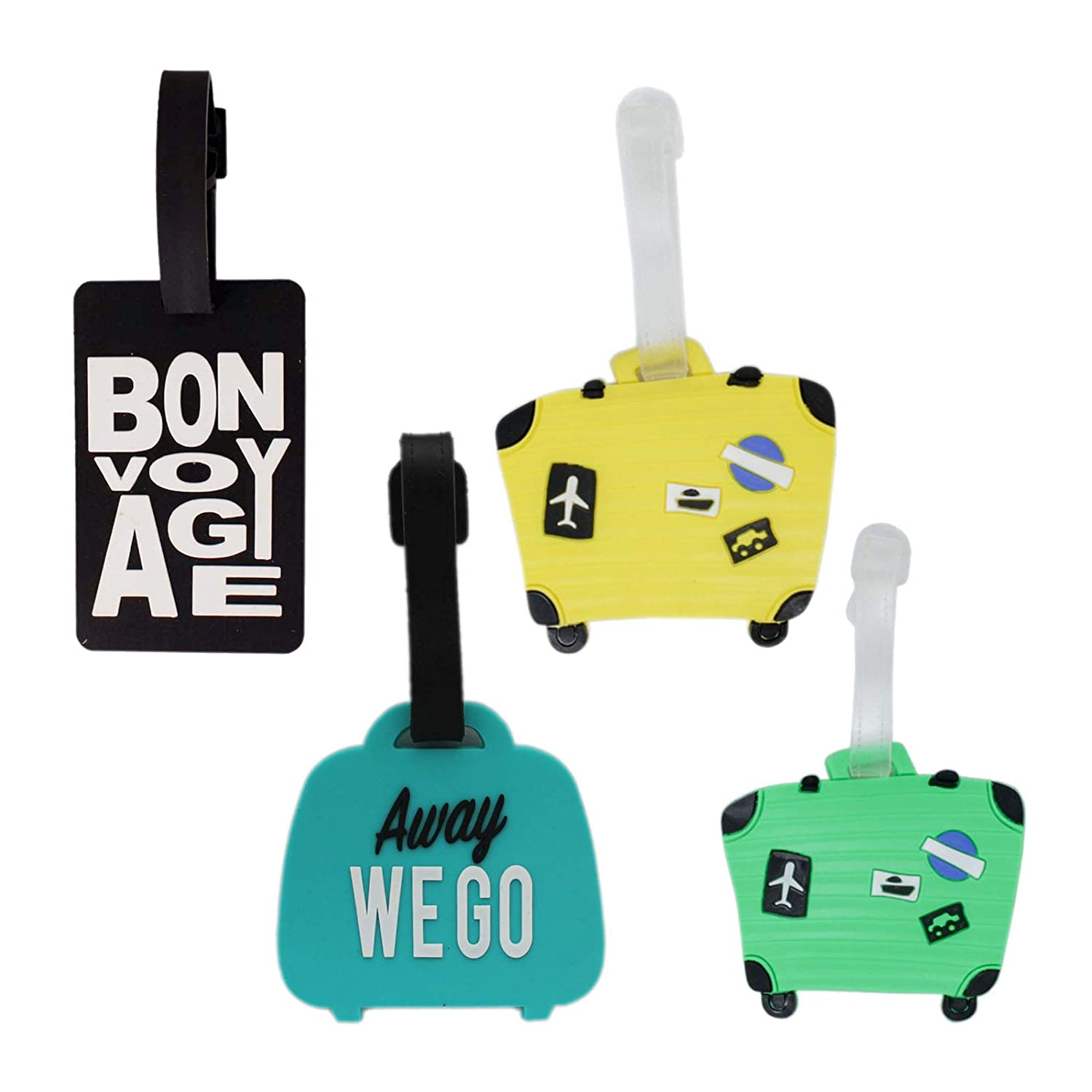 2 Pack Luggage Tags Guitars Handbag Tag For Travel Bag Suitcase Accessories