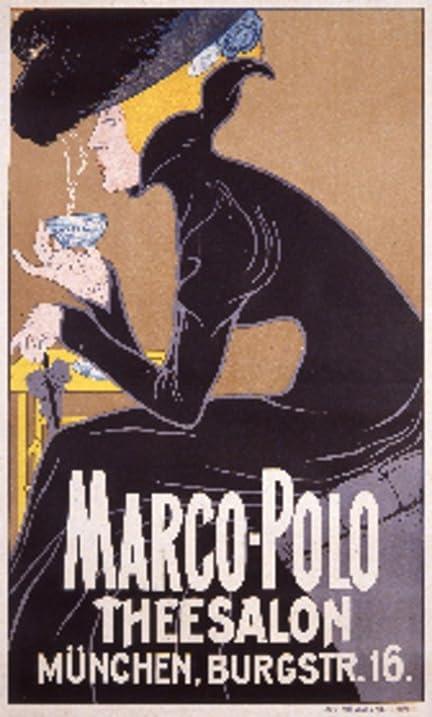 Amazon.com: Marco-Polo Theesalon Vintage Poster (artist: Anonymous ...