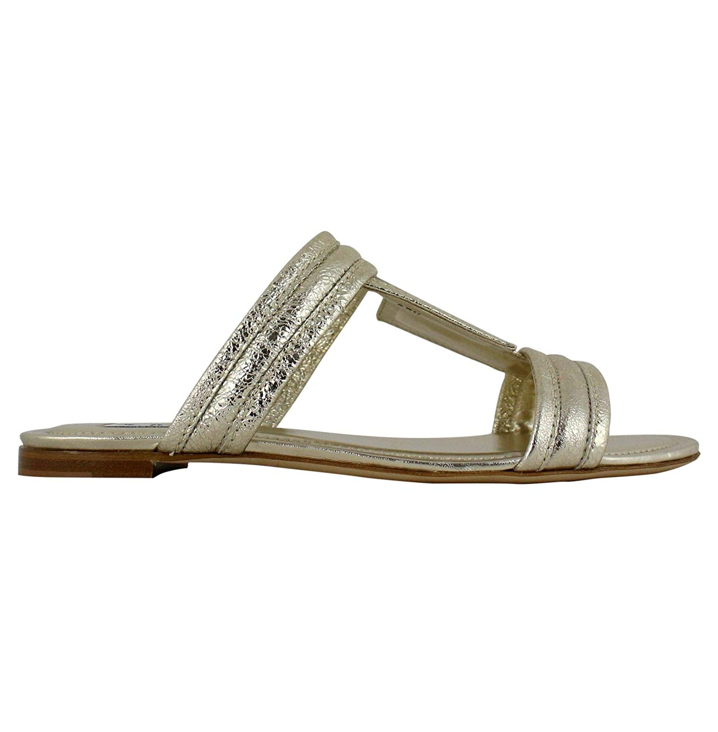 - Tod's Women's XXW37B0AT80RDAG203 gold Leather Sandals