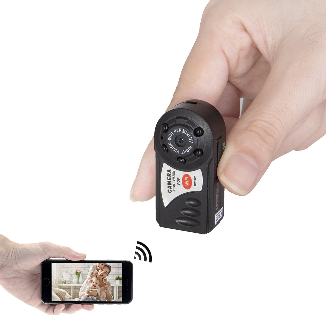 mini portable p2p wifi ip camera indoor outdoor hd hidden spy camera recorder ebay. Black Bedroom Furniture Sets. Home Design Ideas