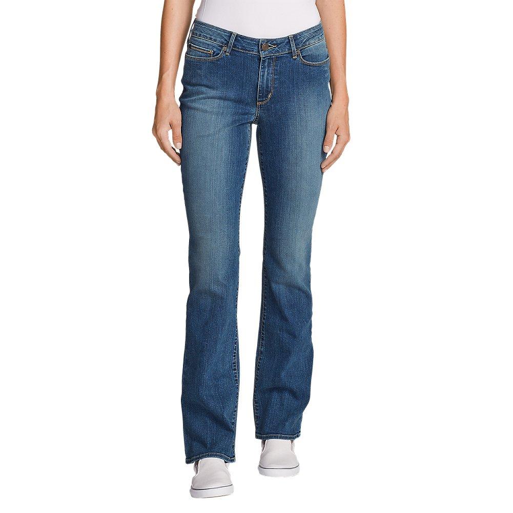 Eddie Bauer Women's StayShape Boot Cut Jeans - Curvy, Indigo Blue Petite 16 Peti