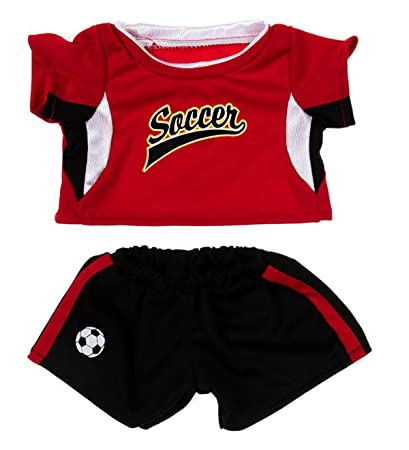 Amazon Com Red Soccer Uniform Outfit Teddy Bear Clothes Fit 14